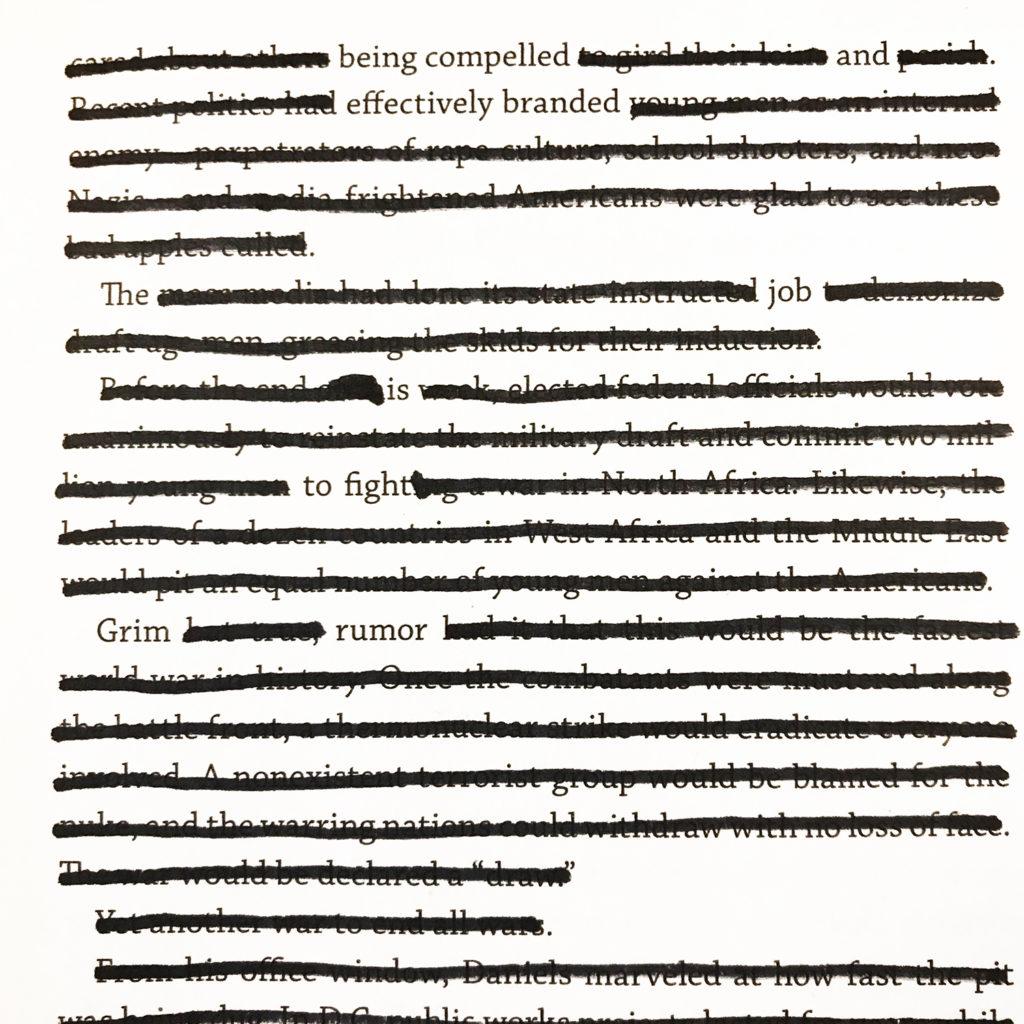 adjustment page 21 | blackout poem by todd regoulinsky | toddregoulinsky.com