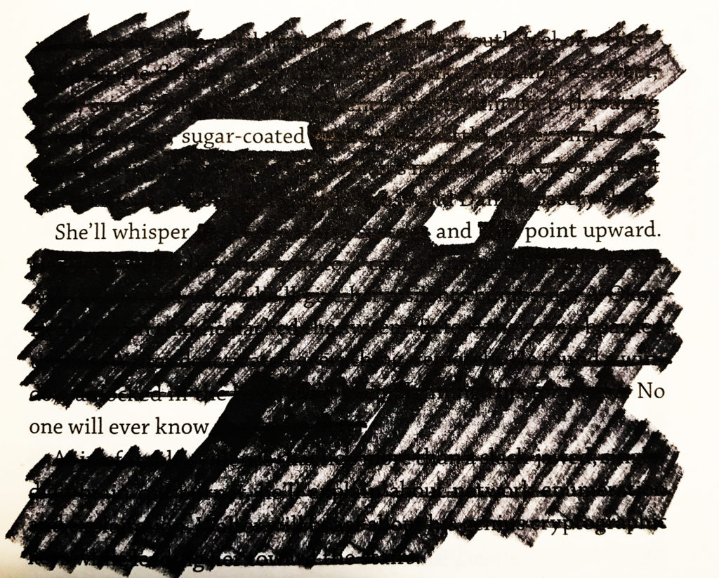 adjustment page 29 | blackout poem by todd regoulinsky | toddregoulinsky.com